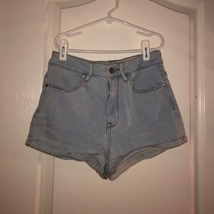 pacsun light wash jean shorts